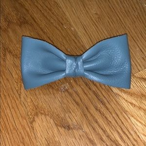 American Apparel Blue Leather Hair Clip